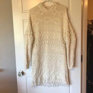 Vintage Fringe Sweater Dress
